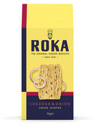 ROKA CHEESE CRISPIES CHEDDAR CHEESE WITH ONION 70GR