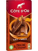 COTE D OR TABLETTE PRALINE & CARAMEL 200GR