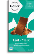 TABLETTE LAIT AMANDES GRILLEES 80 GR