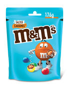 M&M S SALTED CARAMEL POUCH 176GR