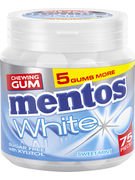 MENTOS GUM WHITE SWEET MINT 75P