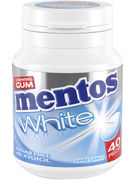 MENTOS GUM WHITE SWEET MINT BOTTLE 40P