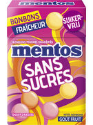 MENTOS FRUIT SUGAR FREE FLIPTOP 49,5GR