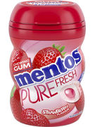 MENTOS GUM PF MINI POT -STRAWBERRY 12P