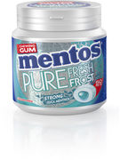 MENTOS GUM PURE FR.FROST STRONG EUCA MENTHOL BOTTLE 50P