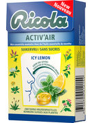 BOX RICOLA ACTIV AIR ICY LEMON SF 50GR