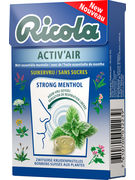 BOX RICOLA ACTIV AIR STRONG MENTHOL SF 50GR