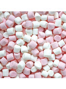 HARIBO CHAMALLOWS LARDS MINI MALLOWS WHITE/ROSE VRAC 1KG