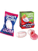 FINI SPORT RUGBY BALL GUM 5GR DISPLAY 200P / 1KG
