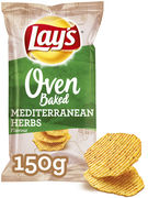 LAYS CHIPS OVEN BAKED MEDITERRANEAN HERBS 150GR