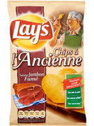 LAY S ANCIENNE GEROOKTE HAM CHIPS 120GR