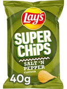 LAY S SUPERCHIPS POIVRE&SEL 40GR