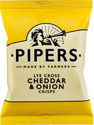 PIPERS LYE CROSS CHEDDAR & ONION 40GR