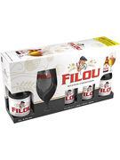 COFFRET FILOU VC 8,5° 4X33CL + VERRE