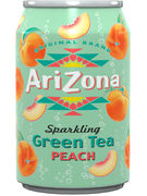 ARIZONA SPARKLING GREEN TEA PEACH FAT CANS 33CL
