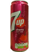 SEVEN UP CHERRY SLEEK CANS 33CL