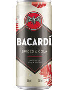 BACARDI SPICED & COLA 5° CANS 25CL