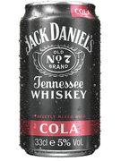 JACK DANIELS & COLA 5° CANS 33CL