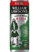 WILLIAM LAWSON WHISKY COLA 5° CANS 33 CL