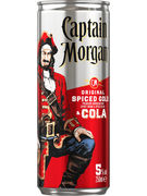 CAPTAIN MORGAN & COLA 5° CANS 25CL