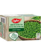 IGLO PETITS POIS EXTRA FINS FIELD FRESH 400GR