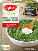 IGLO EPINARDS HACHES CREME 500GR