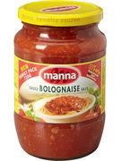 MANNA BOLOGNESE SAUCE 720GR (OV6)