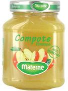 MATERNE COMPOTE DE POMMES MORCEAUX 375GR (OV 8)