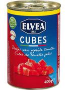 ELVEA TOMATES PELEES EN CUBES 400GR (OV 12)