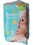 PAMPERS SIZE 6 BABY DRY 19P (OV 4)