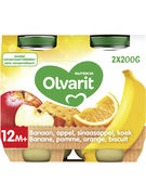 OLVARIT BANAN+POMME+ORANGE+BISC 2X200GR