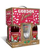 COFFRET GORDON X-MAS 8,8° 4X33CL + 1 VERRE GRATIS