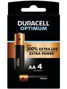 DURACELL PILES ALKALINE OPTIMUM AA 4 PCES