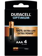 DURACELL PILES ALKALINE OPTIMUM AAA 4 PCES