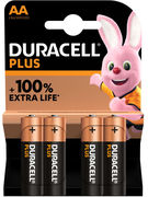 DURACELL PLUS POWER BLISTER 4 PILES MN 1500 LR6 (AA)