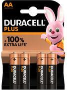 DURACELL PILES ALKALINE PLUS AA 1500 LR6 4 PCES