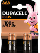 DURACELL PILES ALKALINE PLUS AAA 4 PCES