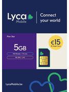 LYCAMOBILE SIM BELGIUM PLAN STAR 15€