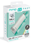 ULTRA FAST DUAL CAR CHARGER TYPE C + USB (NO CABLE) (47172)