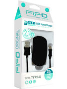 DUAL USB HOME CHARGER TYPE C + CABLE (46961)