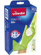 VILEDA GANTS COLORS M/L 50P (OV 12)