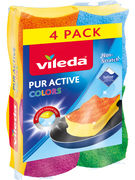 VILEDA EPONGE A RECURER PUR ACTIVE COLORS  4P (OV16)