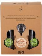 COFFRET LA THAREE TRIP BLOND 8° VC 2X75CL +SOUS VERRE+ VERRE