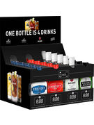 DISPLAY BACARDI MIXED FLASKS 20CL 24P
