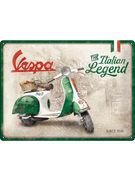 TIN SIGN 30 X 40 VESPA / ITALIAN LEGEND