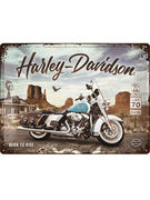 TIN SIGN 30 X 40 HARLEY DAVIDSON/ROUTE 66 ROAD KING CLASSIC