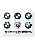 TIN SIGN 30 X 40 BMW / LOGO EVOLUTION
