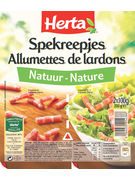HERTA LARDONS ALL.NAT.2X100G