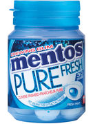 MENTOS bottle GUM PURE FRESHMINT 30P 60G