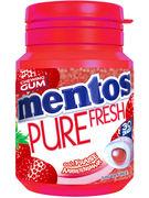 MENTOS bottle GUM PURE FRESH STRAWBERRY 30P